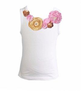 Top Rossette Luxe Vintage Rose Garden Goud roze 62-164
