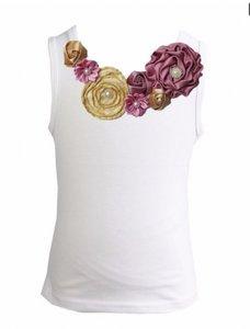 Top Rossette Luxe Vintage Rose Garden Dusty Pink Goud 62-164