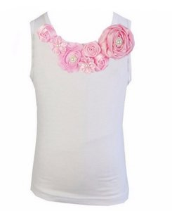 Top Rossette Luxe Vintage Rose Garden Roze 62-164