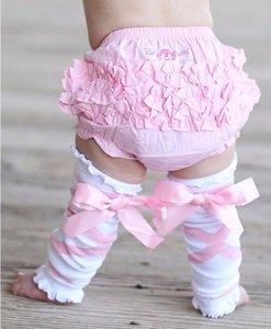 Ruffle Butts White pink Ballet print Beenwarmer