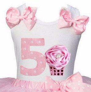 Verjaardagtop Polkadot with pink cupcake nr 5