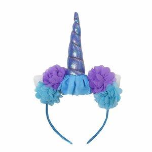 Unicorn diadeem blauw lila