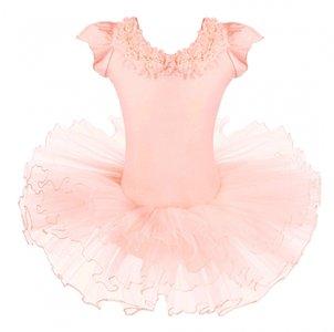 Balletpakje romantic peach Tutu maat 98-140