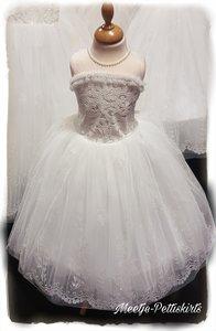 Bruidsmeisje jurk Communie ivoor creme 98-152