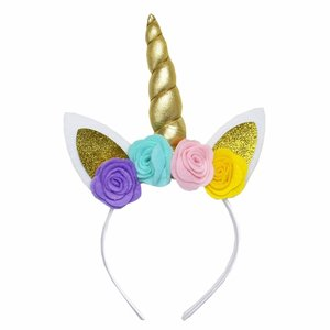 Unicorn diadeem soft flower rainbow