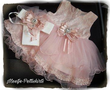 baby jurk Feest & Bruiloft Luxe Dusty Pink Couche Crown Tot 0-24 maanden