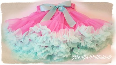 Petticoat Luxe Pink Mint By Meetje-Pettiskirts Kids & Women
