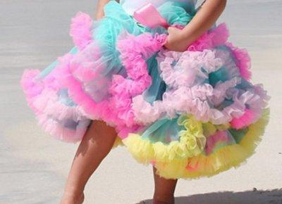 Petticoat Luxe Tropic Rainbow By Meetje-Pettiskirts Kids