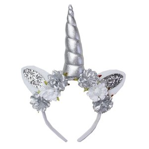 Unicorn diadeem luxe zilver Flowers Shiny bloem