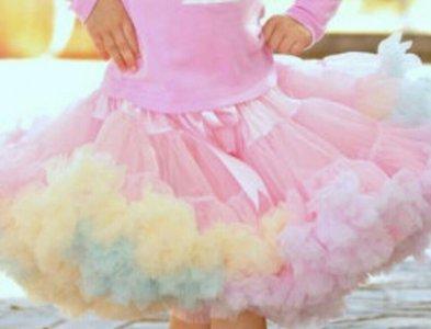 Petticoat Luxe Roze Regenboog By Meetje-Pettiskirts Kids & Women