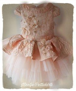 Ultra luxe jurk Peach  Mona 1-5 jaar