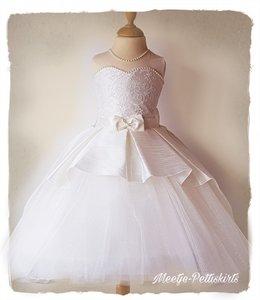 Bruidsmeisje jurk Communie ivoor strik 98-146