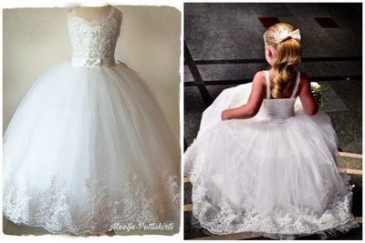 Bruidsmeisje jurk Communie off white Lovely Handgemaakt Diverse kleuren
