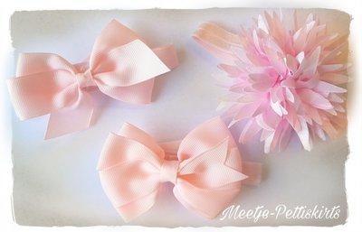 Baby strik haarbandjes 3Stuks roze