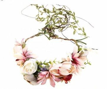 Bloemen garden kroon haarband vintage colors