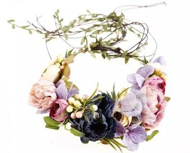 Roos garden kroon haarband classic colors