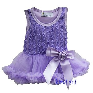 Romantic lavendel Rossettes Bodysuit Pettidress 6-12m