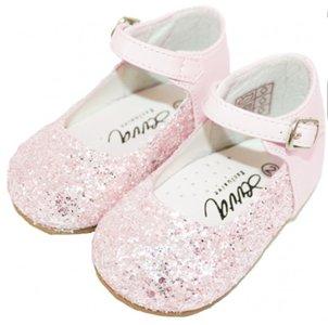 Bruidmeisje schoen glitter roze 18-23