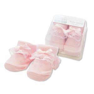 baby sokje newborn roze kant