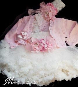Doopjurk & Bruiloft meisje jurk met Vest