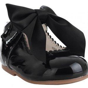 Bruidsmeisje schoen strik zwart 18-26