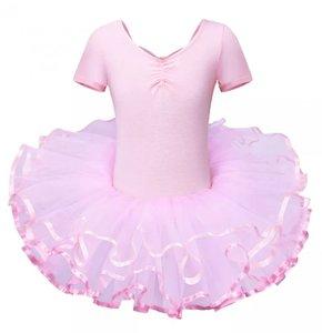 Balletpakje tutu Roze met mouwtje maat 92-140