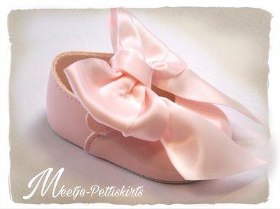 Ballerina Grote Strik patent roze.