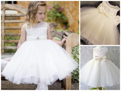 Feestjurk Bruiloft Communie & Doop jurk Ivoor Luxe Baby & Kids