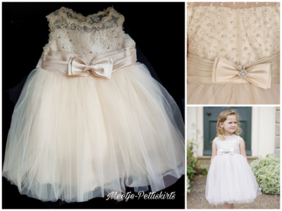 Feestjurk Bruiloft Communie & Doop jurk Champagne Luxe Baby & Kids
