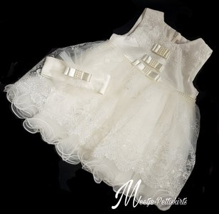 Doopjurk & Baby bruiloft jurk Classic Bow + Haarband