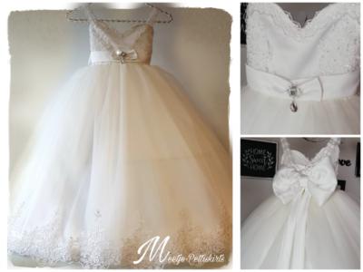 Communie jurk - Bruidsmeisjes jurk Handmade luxe ivoor Classic Miracle 2jr tm 16jaar