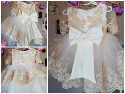 Bruidsmeisje jurk - communie jurk Luxe Handmade maat 56 tm 176