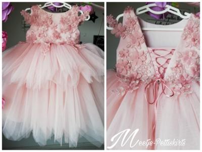 Bruidsmeisjes jurk oud roze  Handmade Ultra Luxe