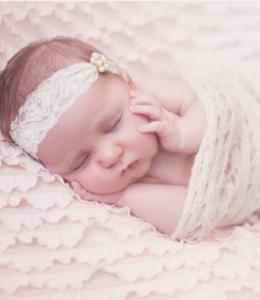 Baby Haarbandje doop bruiloft little flower