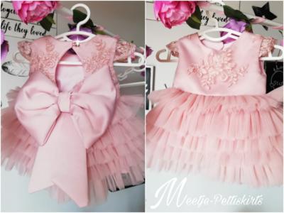 Feestjurk oud roze lovely Layers Handmade Ultra Luxe