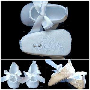 baby feestschoentjes wit Doop en Bruiloft little Angel