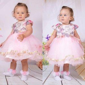 Roze baby jurk Roze wonderful flower NEW