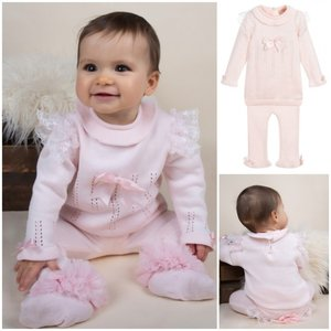 Baby set Knit Trui met Legging Spanisch Roze NEW