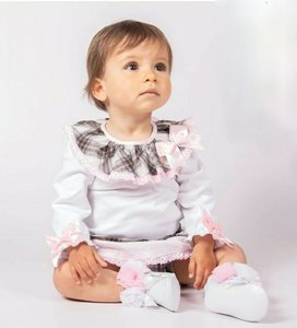 baby set Blouse met ruffle broekje + haarband NEW