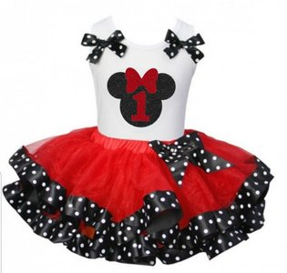 Minnie Mouse tutu verjaardag set nummer 1