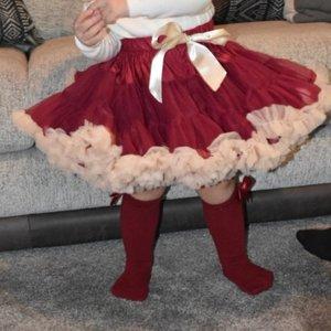 Petticoat Luxe Wijn Rood Cream KIDS & Women