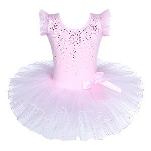 Balletpakje Tutu Roze Glitter maat 98-140 NEW