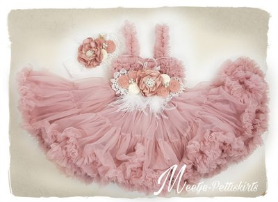 Luxe Feestjurk Pettidress By Meetje Dusty Pink Miracle Flower 62-158