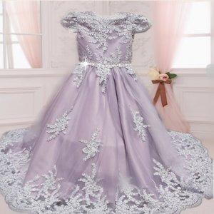 Communie jurk & Bruiloft meisje Jurk Top of Ultra Handmade kant 1 NEW Diverse kleuren
