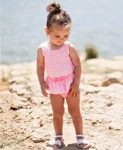 badpak met skirt UV bescherming Rose Gingham  maat 50 tm 104 NEW