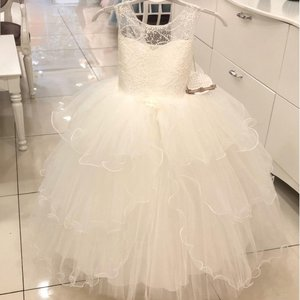 Communie jurk / Bruiloft meisje jurk ivoor sparkle style NEW