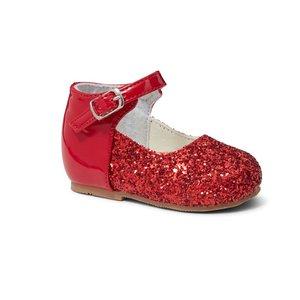 Rode glitter schoen Meisjes maat 18 - 23