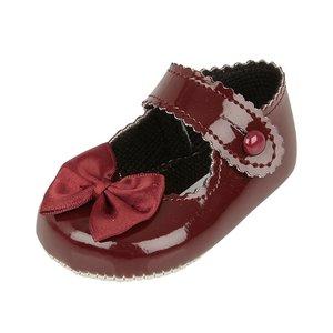 Wijn Rode schoentjes met strikje