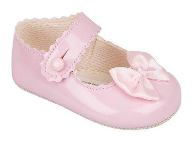 Baby schoentjes roze met strikje