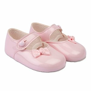 Baby schoentjes Roze met zijstrikje